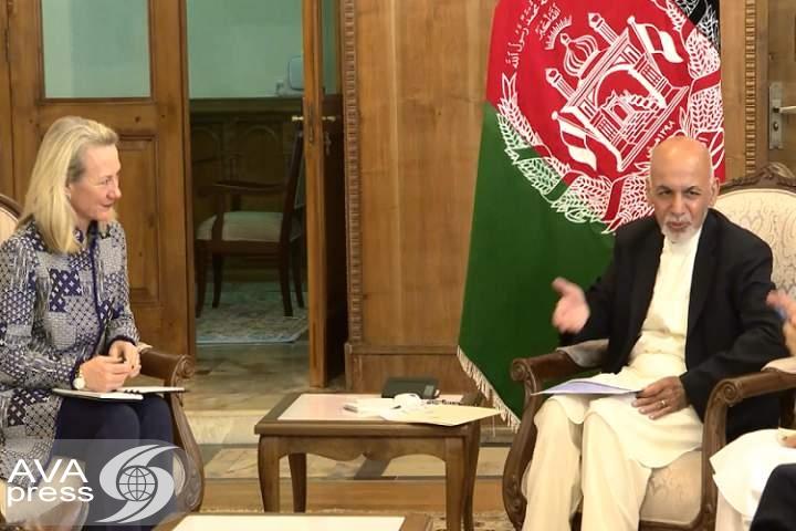 رئیس جمهور غنی با معاون وزیر خارجه امریکا دیدار کرد