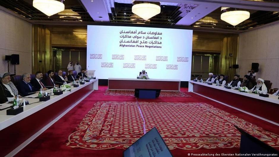 مذاکرات صلح میان هیئت بلند پایه حکومت و طالبان در دوحه آغاز شد